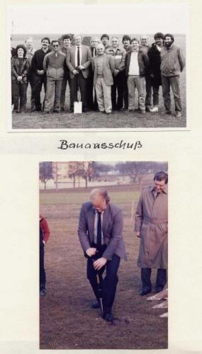 Bauausschuß und Spatenstich 1993
