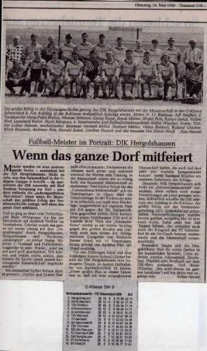 1993 Fußballmeister SW C-Klasse Gruppe 9