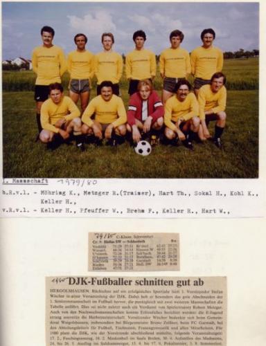 1. Mannschaft 1979