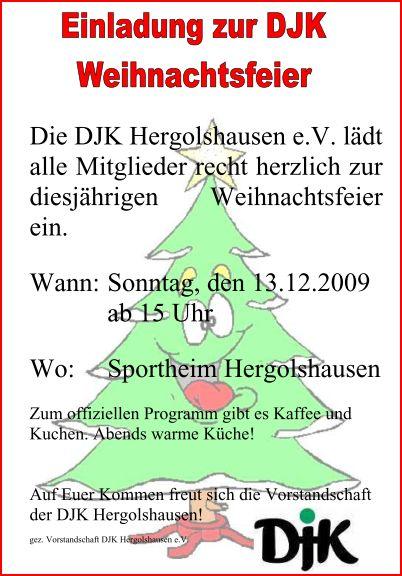 DJK Weihnachtsfeier 2009