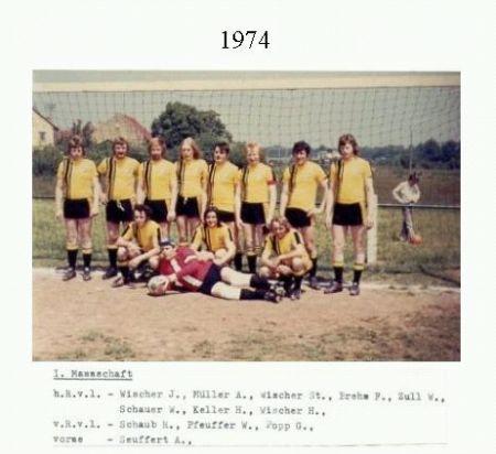 1. Mannschaft 1974