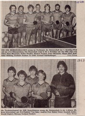 Tischtennismeister 1983